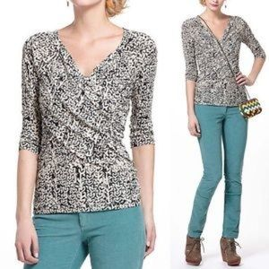 Meadow Rue / Anthro Faux Wrap Top